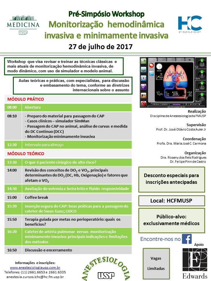 27.07.17-Monitorização hemodinâmica invasiva